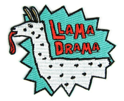 Llama Drama Embroidered Patch