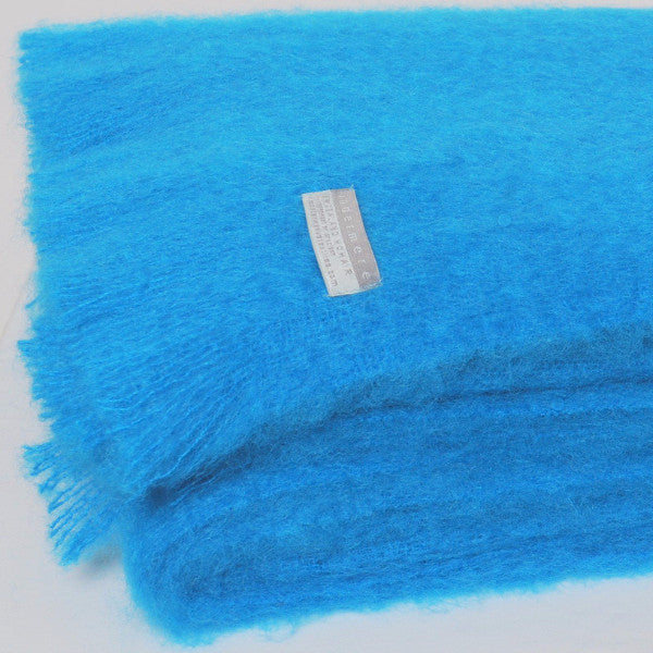 Windermere Mohair Blanket - Turquoise