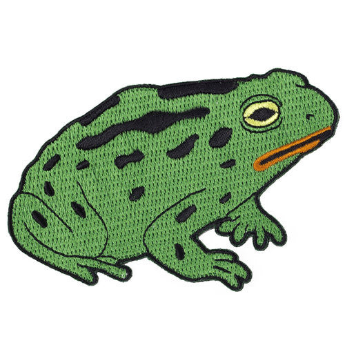 Green Toad Iron on Patch
