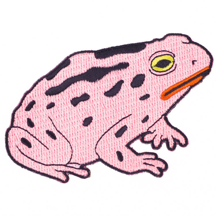 Pink Toad Iron on Patch