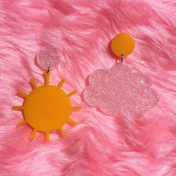 Sun and Cloud Earrings