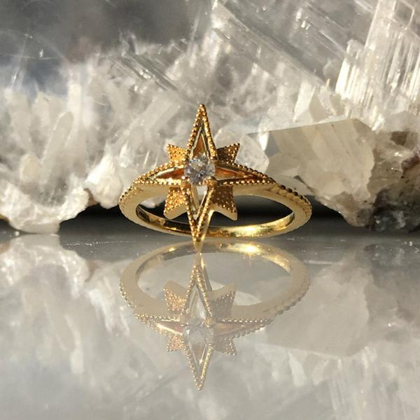 Gold Sunbeam Ring