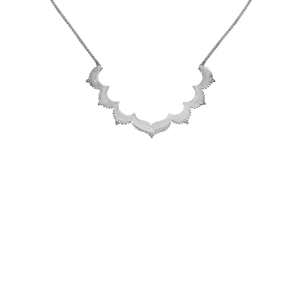 Tangier Small Frame Silver Necklace