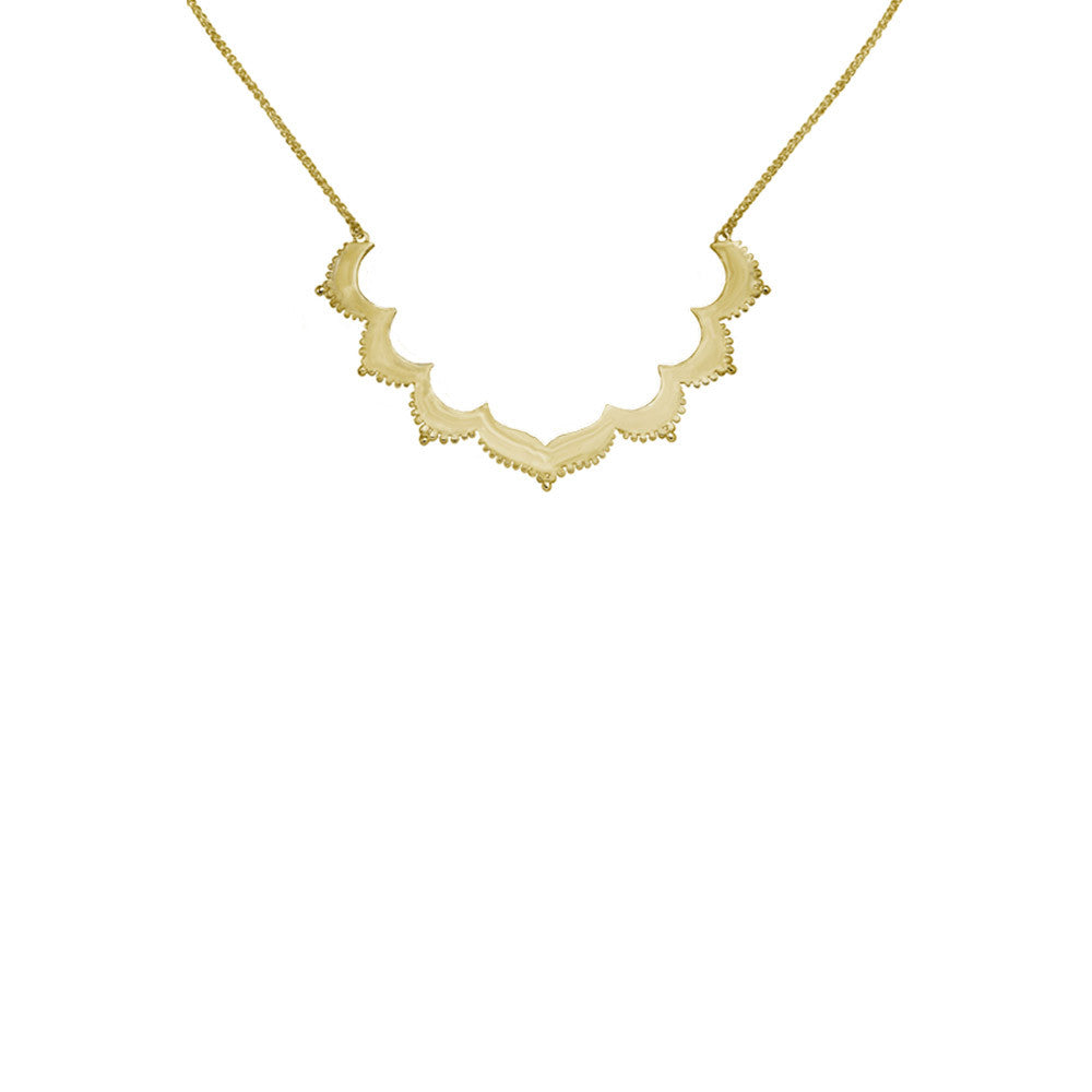Tangier Moroccan Gold Necklace