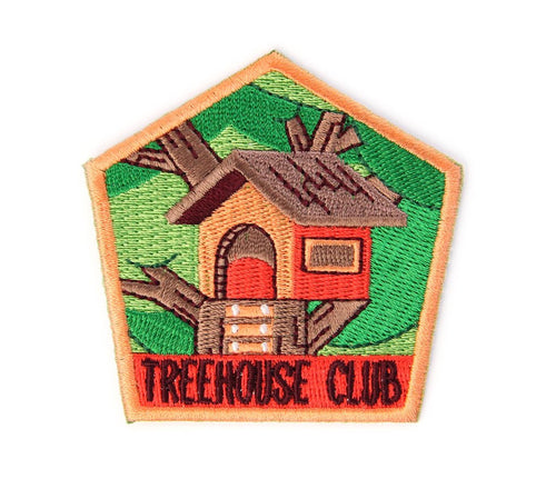 Tree House Club Embroidered Patch