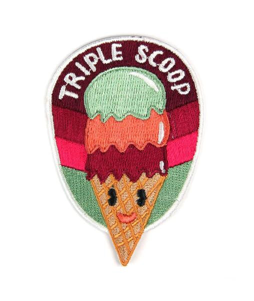 Triple Scoop Embroidered Patch