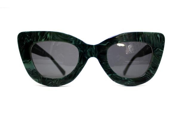 Green Marble Triangle Sunglasses