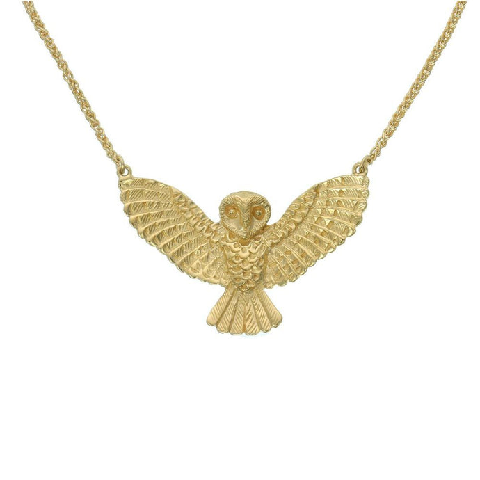 Gold Plated Noble Owl Necklace