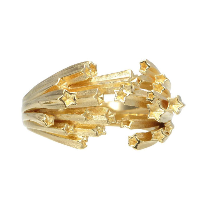 Gold Shooting Stars Ring