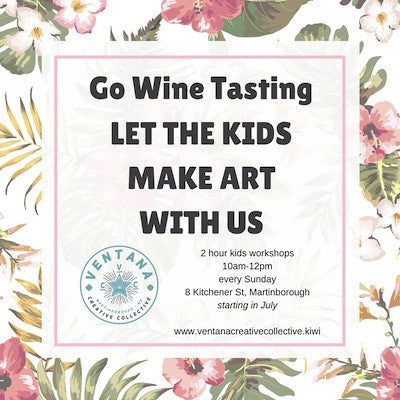 Wine for you and Art for your kids
