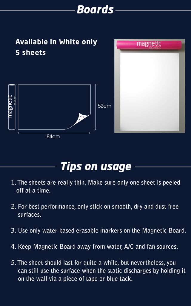 Magnetic Boards / 5 Sheets
