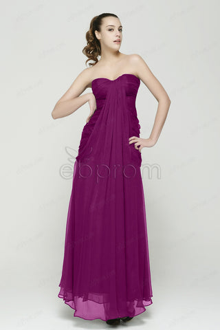 Magenta bridesmaid dresses trumpet sweetheart gowns