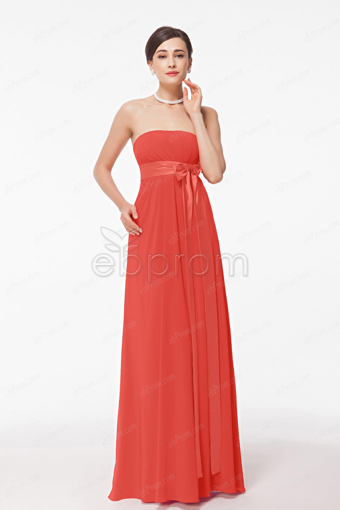 maternity bridesmaid dresses empire waist coral bridesmaid gowns