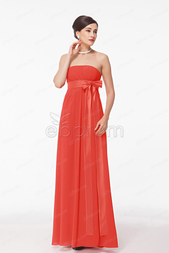 maternity bridesmaid dresses empire waist coral bridesmaid gowns ...