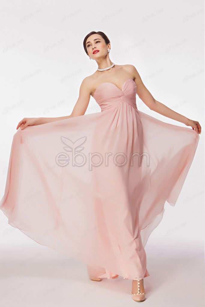 Pink maternity bridesmaid dresses with empire waist