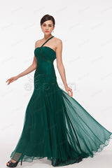 Trumpet Forest green beaded evening dresses prom dress