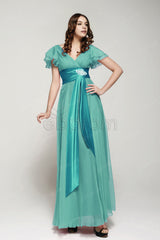 Modest Dusty green bridesmaid dresses with sleeves