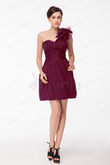 Berry color homecoming dresses