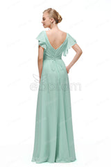 Mint green prom dresses with sleeves