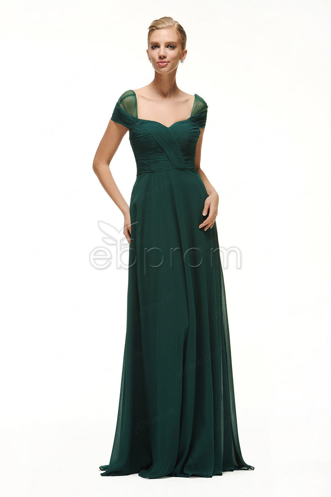 7383c041ab0 Forest green bridesmaid dresses cap sleeves – ebProm