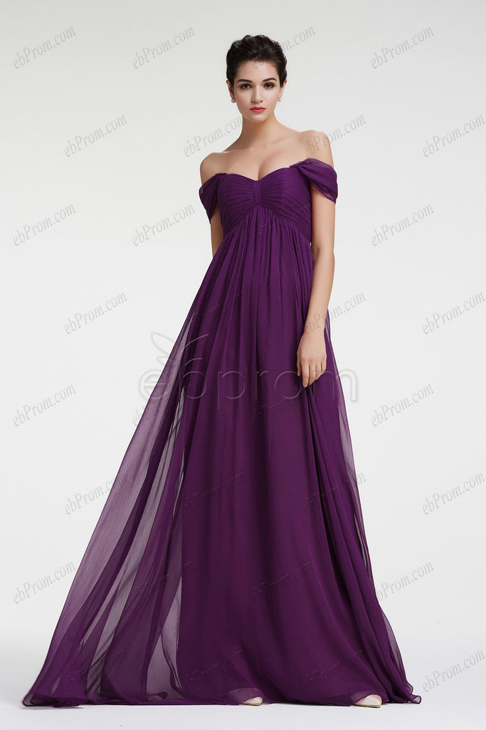 Dark purple maternity bridesmaid dresses plus size formal dress