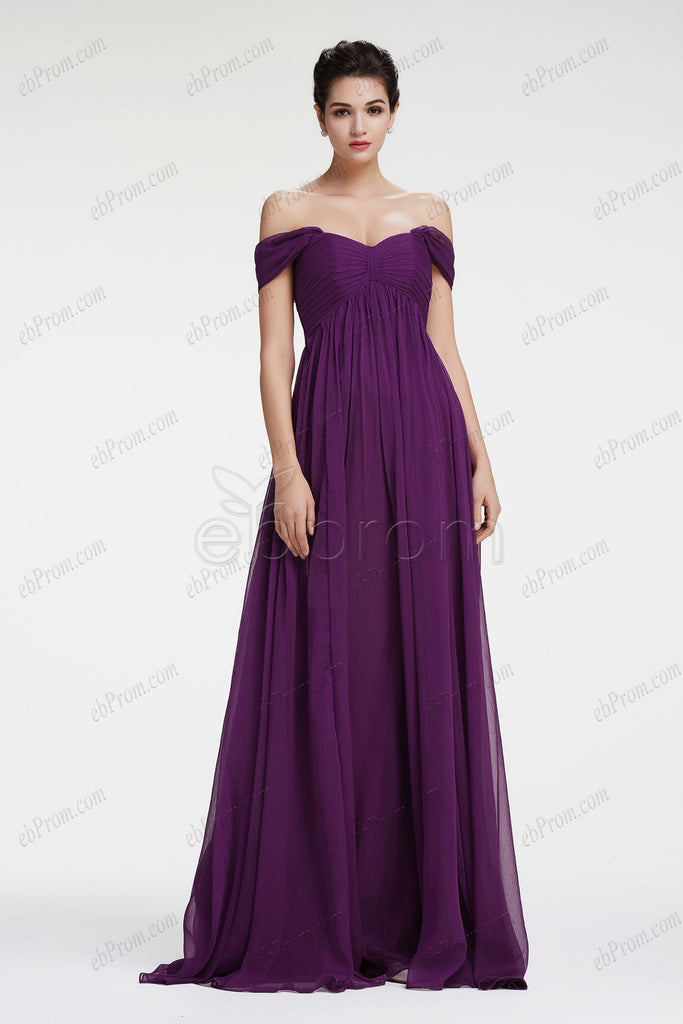 Dark purple maternity bridesmaid dresses plus size formal dress – ebProm