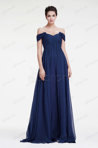 Navy blue maternity formal dresses pregnant evening dress
