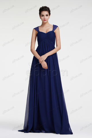 Navy blue elegant formal dresses for wedding
