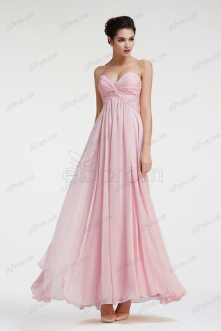 Sweetheart light pink maternity bridesmaid dresses evening dresses
