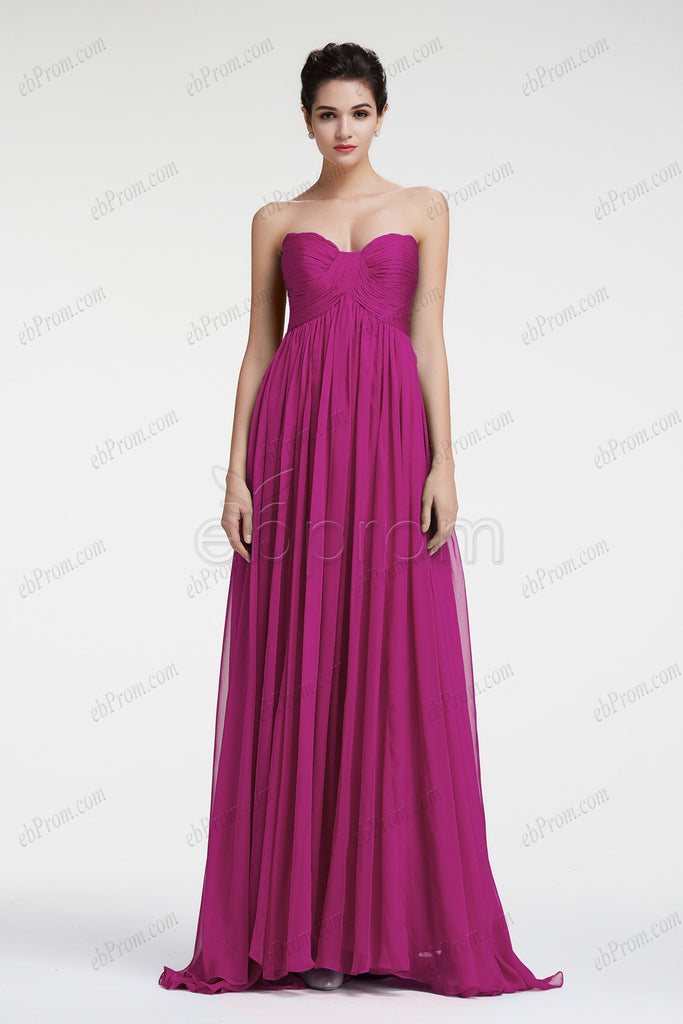 Magenta evening dresses empire waist formal dresses plus size – ebProm