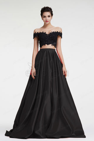 Ball Gown Two Piece Prom Dresses Off the shoulder pageant dresses