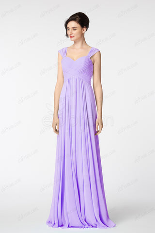 6d6d0f7e4a31 Lavender sweetheart long bridesmaid dress with straps