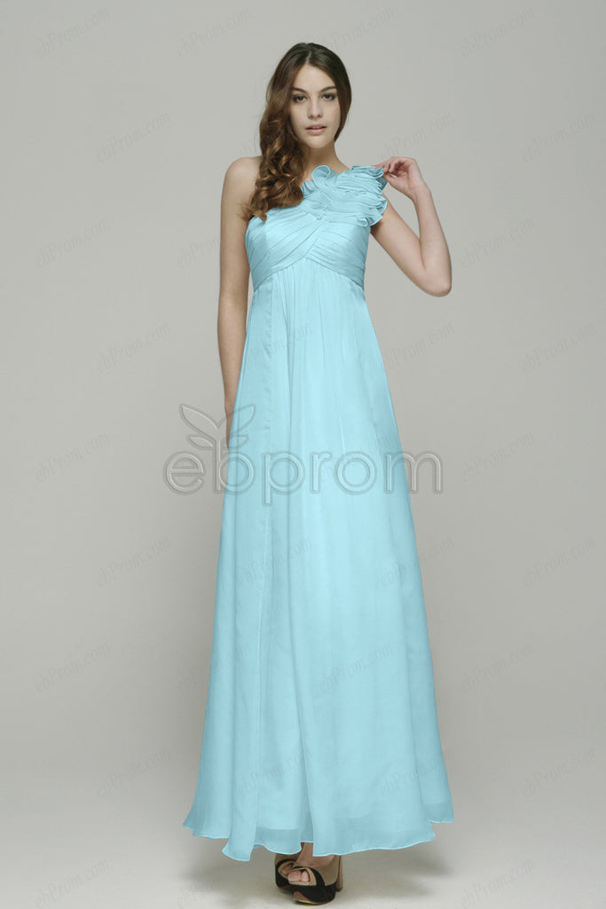Light blue one shoulder maternity bridesmaid dresses – ebProm