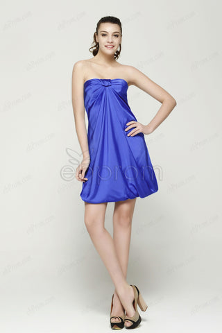 Royal blue strapless cocktail dresses