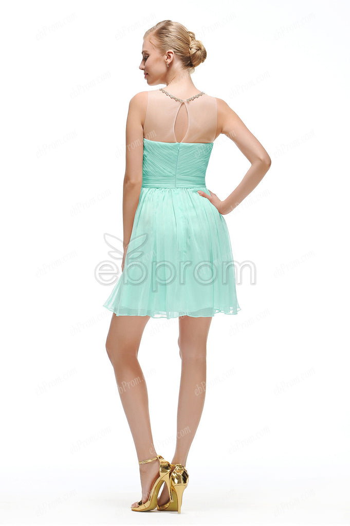 Mint green short prom dress homecoming dresses – ebProm