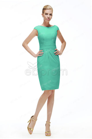 Mint green mother of the bride dress knee length
