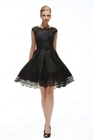 Black bak less short prom dress little black dresses homecoming dress