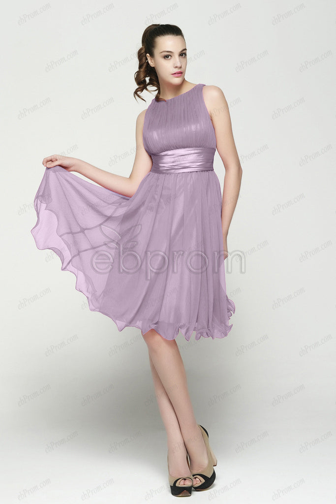 Lavender homecoming dresses under the knee length cocktail dress