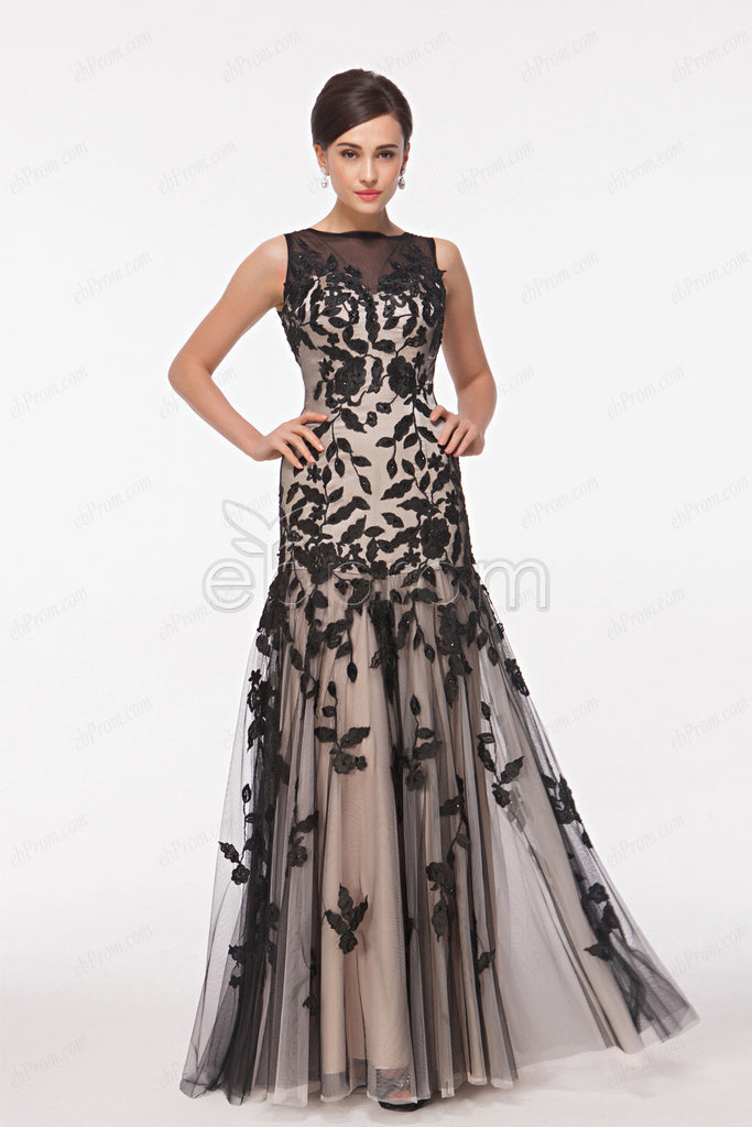Black champagne lace mother of the bride dresses