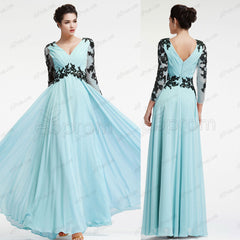 Light Blue Mother of the Bride Dresses Long Sleeves Plus Size