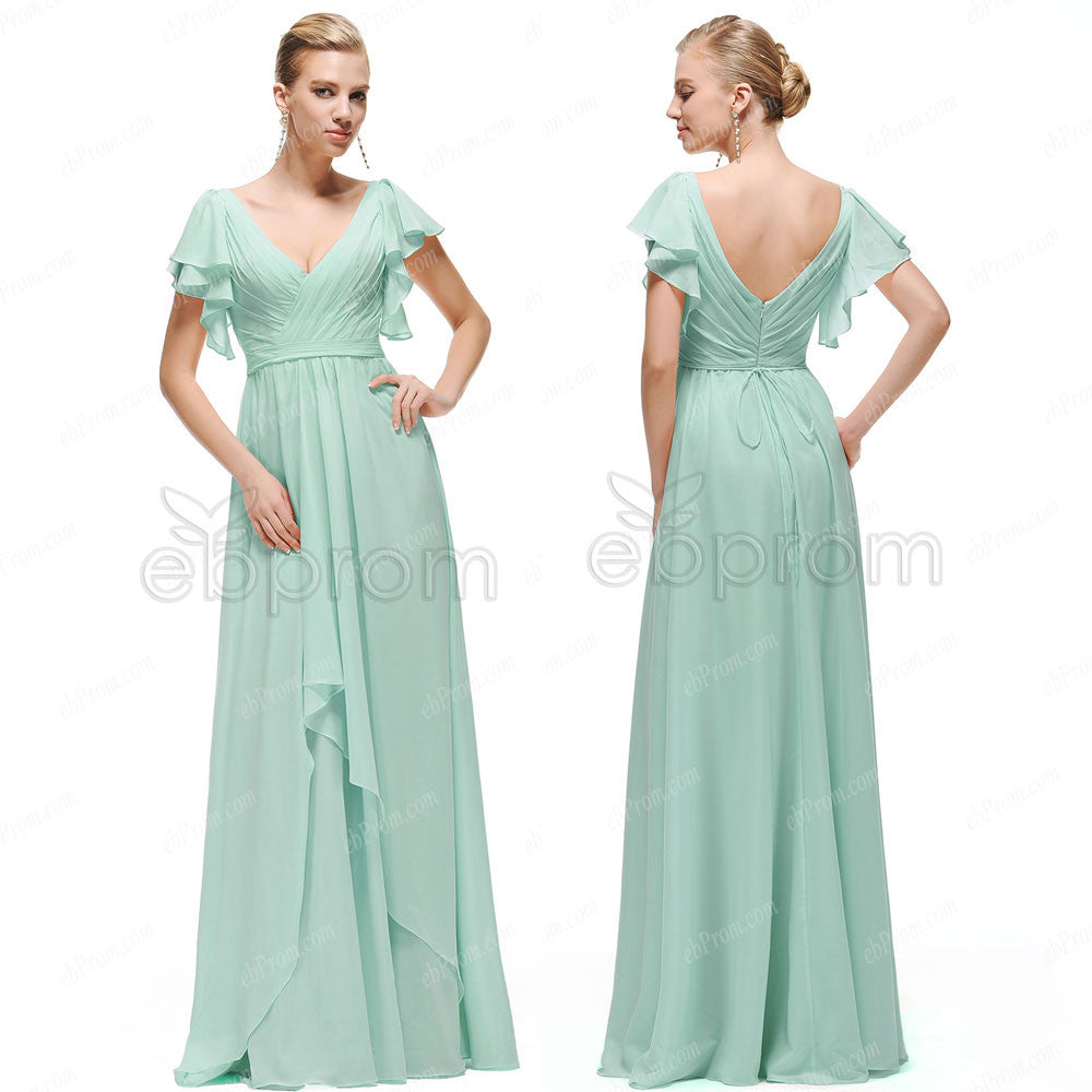 Mint green prom dresses with sleeves – ebProm