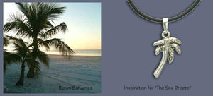 Sterling silver palm tree pendant
