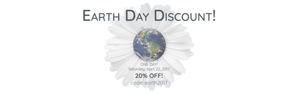 Earth Day 20% Discount!
