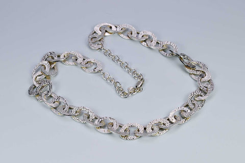 Sterling Silver link chain, handmade