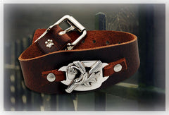 Leather Oak and Sterling Silver Bracelet | Made in the U.S.A.