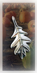 Sterling Silver Leaf Pendant | Nature Pendants | TevaJane