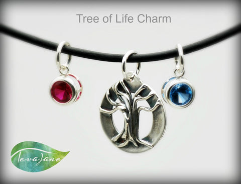 Tree Of Life Charm | Silver Tree Of Live Pendant