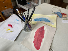 Watercolor feather by TevaJane