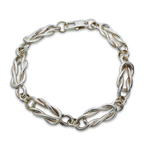 Nautical Knot Sterling Silver Bracelet