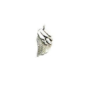 Angel Wing Charm Sterling Silver